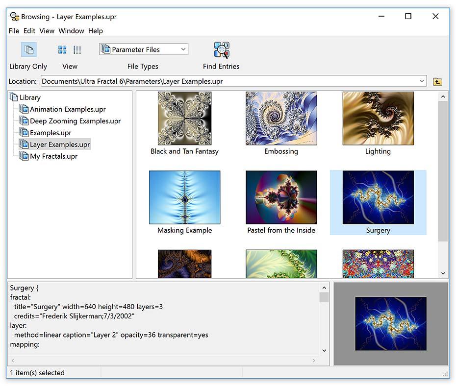 Ultra Fractal Standard Edition screenshot