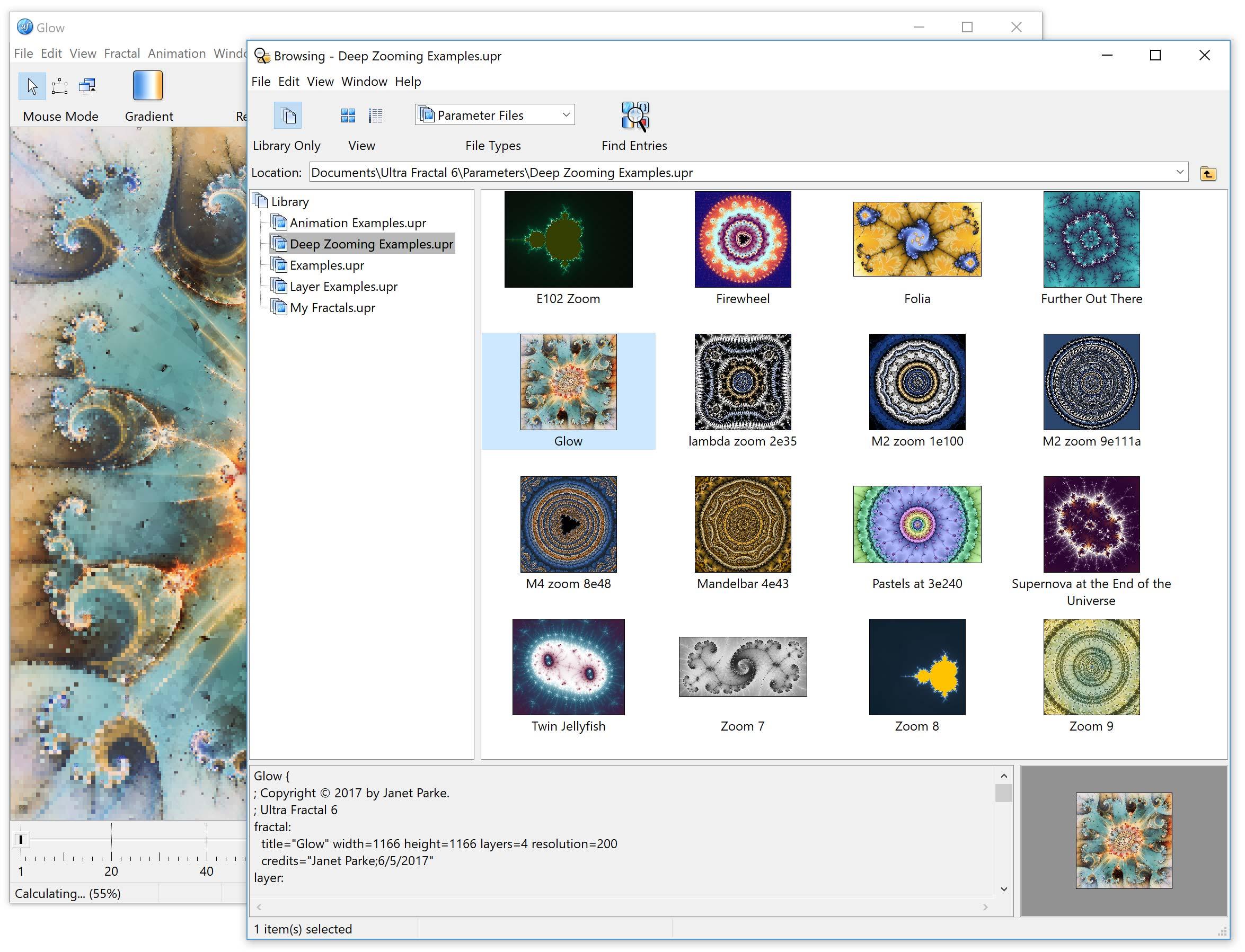 Ultra Fractal Animation Edition screenshot